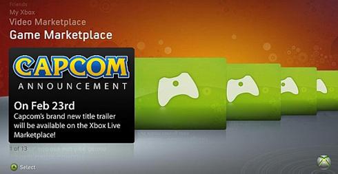 ¿Qué anunciará Capcom el próximo Lunes por la XboxLive?