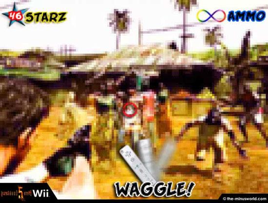 Resident Evil 5 para Wii, disparadle a los cuadros que parecen zombies