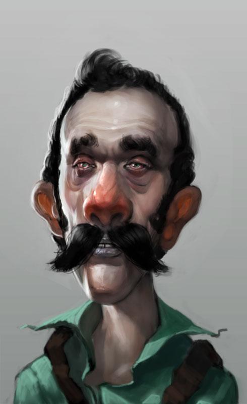 Caricaturas de los personajes de Mario Bros un tanto bizarros