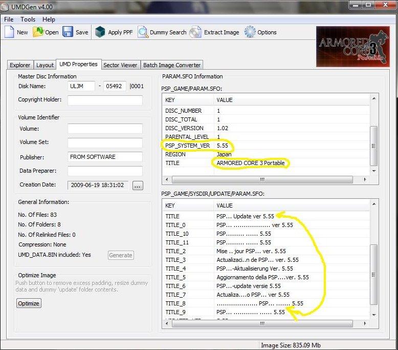Los nuevos juegos para PSP requieren del Firmware 5.55