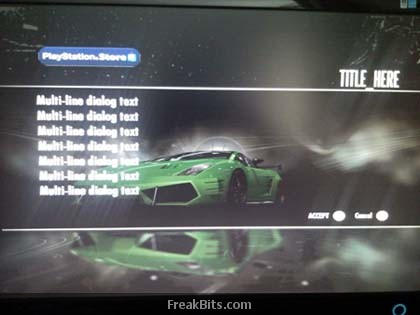 XBOX 360 se cuelga cuando NFS Shift intenta acceder a la PlayStation Store