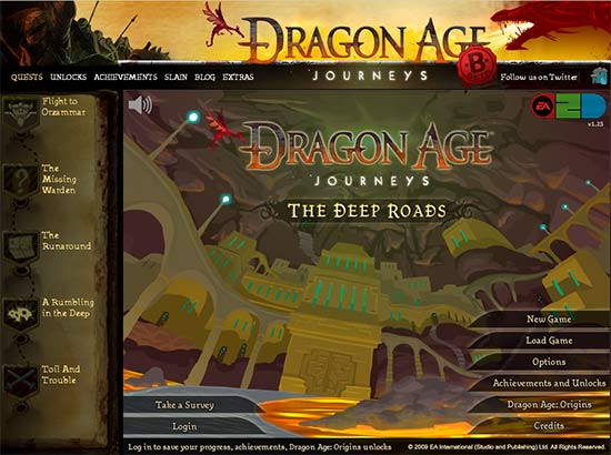 Dragon Age Journeys: gratis y desde el navegador