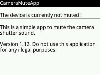 Camera Mute: Quitar el sonido de la cámara del Blackberry