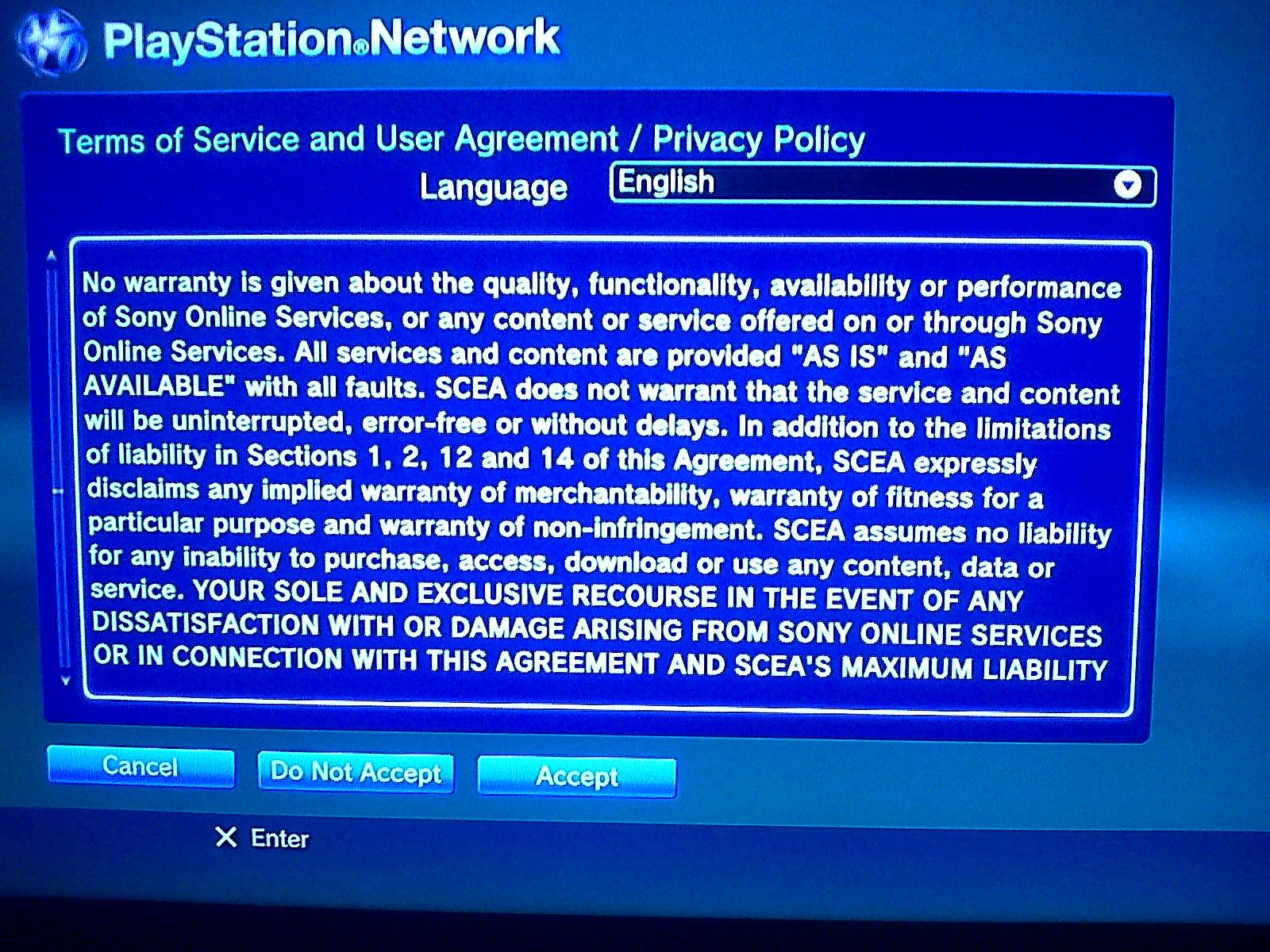 Sony cambia los Terminos del Servicio de la PSN, ¿espionaje autorizado?