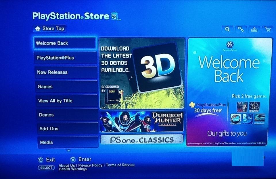 La Playstation Store ya esta totalmente online