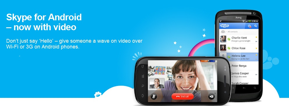 Skype para Android se actualiza y agrega video llamada