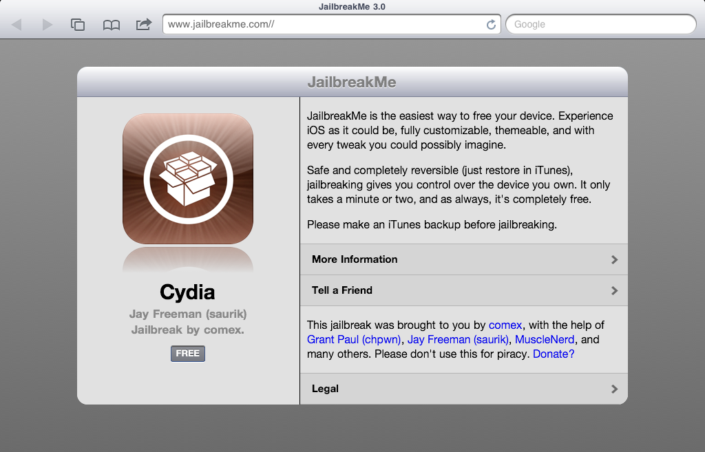 Tutorial: Jailbreak del iPad 2